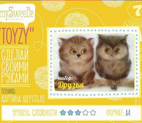 Набор для создания картины шерстью Toyzy Друзья от 7 лет TZ-P033