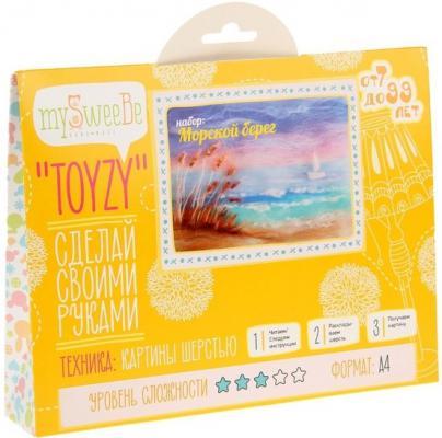 Набор для создания картины шерстью Toyzy Морской берег от 7 лет TZ-P016