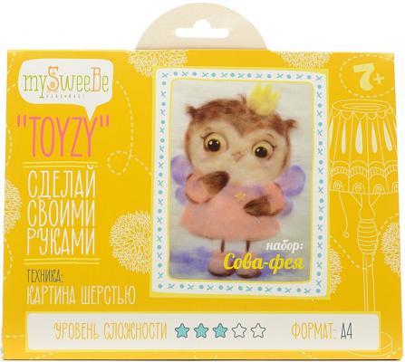Набор для создания картины шерстью Toyzy Сова фея от 7 лет TZ-P025