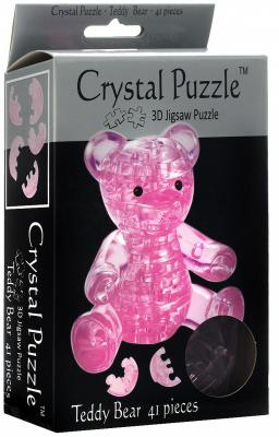 Головоломка CRYSTAL PUZZLE Мишка розовый старше 10 лет 90314