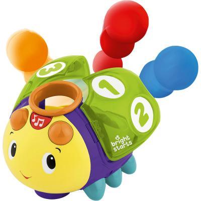 Развивающая игрушка Bright Starts «Жучок 1-2-3» прорезыватель bright starts динозаврик желтый 52029 2