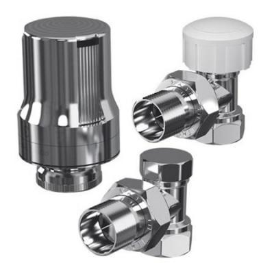 Набор термостатический угловой DE LUXE (хром), 1/2 RTE 50.018