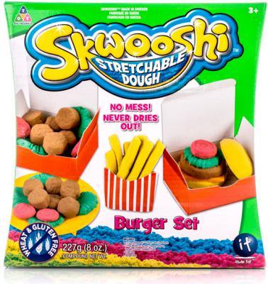 Набор для творчества Skwooshi Бургер - масса для лепки и аксессуары S30021 skwooshi набор для лепки с аксессуарами бургер