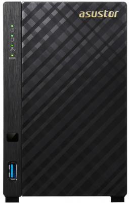 Сетевое хранилище Asustor AS-3202T 2 отсека NAS Celeron 2Gb DDR3