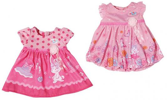 Платье для кукол Zapf Creation Baby Born - Розовое платье цвет в ассортименте kogankids kogankids платье леопард розовое