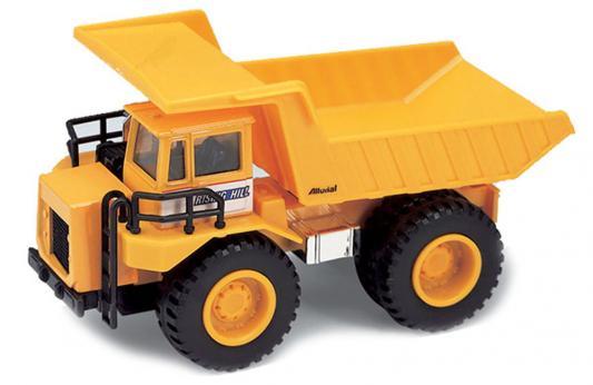 Машина Welly Карьерный самосвал оранжевый 21 см welly 99612 велли модель машины карьерный самосвал