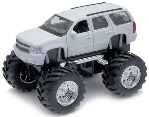 Фото - Автомобиль Welly Chevrolet Tahoe - Big Wheel 1:34-39 игрушка модель машины 1 34 39 chevrolet tahoe big wheel monster