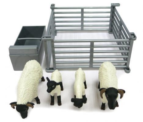 Игровой набор Tomy Овцы в загоне 6 предметов игровые наборы tomy игровой набор приключения трактора джонни и коровы на ферме