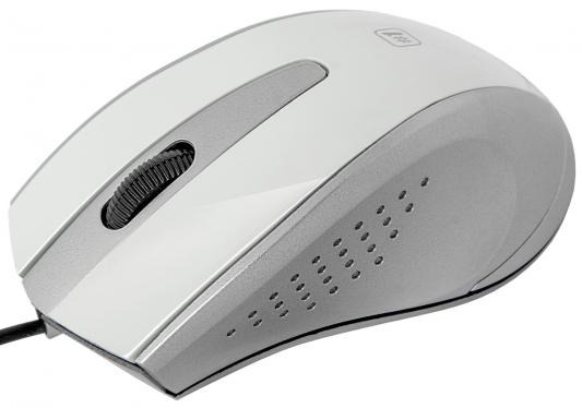 Мышь проводная DEFENDER MM-920 белый серый USB 52922
