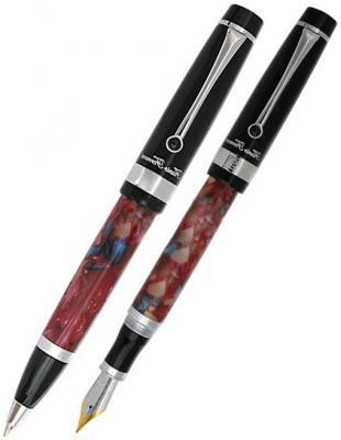 Набор Alchimia Перьевая ручка+Шариковая ручка, черн. колпачок, хромированные детали