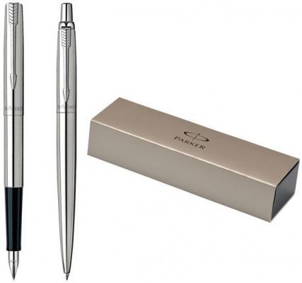 Набор JOTTER Stainless Steel, шариковая+перьевая ручка с деталями из нерж.стали