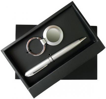 Набор: ручка шариковая + брелок, комбинированный