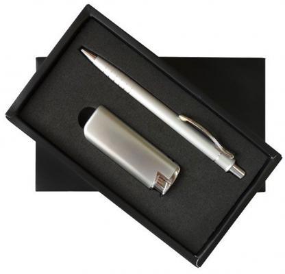 Набор: ручка шариковая + зажигалка, комбинированный
