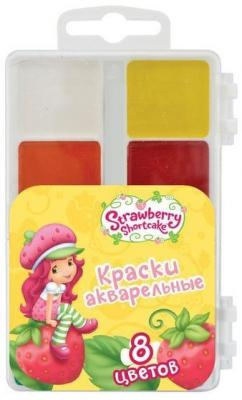 Акварель Action! STRAWBERRY SHORTCAKE 8 цветов SW-WP8/3 мелки для асфальта action strawberry shortcake 6 штук от 3 лет sw cca 6