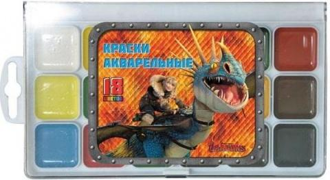Акварель Action! DRAGONS 18 цветов