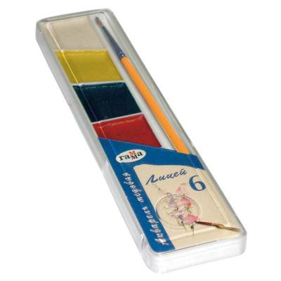 Акварель Гамма ЛИЦЕЙ (MAXI) 6 цветов акварель гамма лицей maxi 12 цв пл коробка с кистью