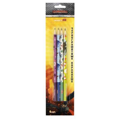 Набор графитовых карандашей Action! DRAGONS, 4 шт action набор чернографитных карандашей антискользящих 4 шт