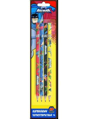 Набор графитовых карандашей Action! Бэтмен:отважный и смелый 4 шт BA-ALP115/4 набор графитовых карандашей action pucca 4 шт pu alp115 4