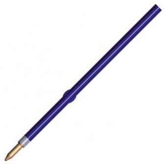 Стержень шариковый СТАММ СТ01 синий с упором, 107 мм