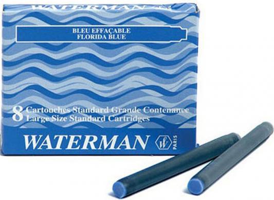 52002 Картридж с чернилами для перьевой ручки LONG, цвет синий, 8 шт. в картонной упаковке