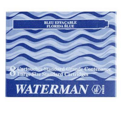 52012 Картридж с чернилами для перьевой ручки SHORT, цвет синий, 6 шт. в картонной упаковке ручки waterman s0952360