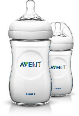 Бутылочка Avent Natural Pp, 260 мл, сил. соска, медл. поток, 2 шт. арт. 86595 philips avent бутылочки для кормления natural 260 мл медленный поток 2 шт avent