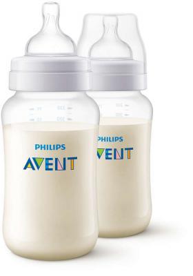 Бутылочка Avent Classic+ Pp, 330 мл, сил. соска, перем. поток, 3+, 2 шт., арт. 80032 avent classik бутылочка для кормления 330 мл 1 шт