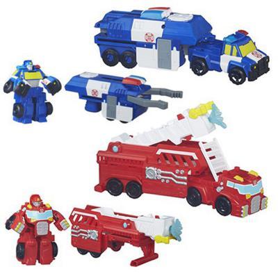 Набор-трансформер Playskool Heroes - Машинки-спасатели 13 см набор playskool heroes мстители геликарриер