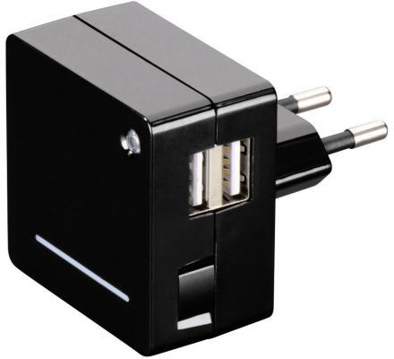 Сетевое зарядное устройство Hama Opal H-124557 USB 2.1A черный