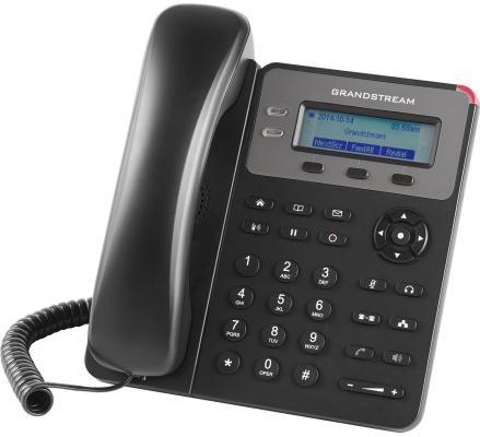 Телефон IP Grandstream GXP1615 2 линии 1 SIP-аккаунта 2x10/100Mbps LCD PoE телефон ip grandstream gxp 1630 3 линии 3 sip аккаунта 2x10 100 mbps lcd poe blf