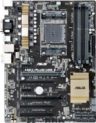 Мат. плата для ПК ASUS A88X-PLUS/USB 3.1 Socket FM2+ AMD A88X 4xDDR3 1xPCI-E 16x 3xPCI 2xPCI-E 1x 8xSATAIII ATX Retail