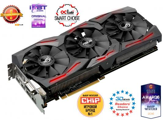 Видеокарта 8192Mb ASUS RX 480 PCI-E DVI HDMI DP HDCP STRIX-RX480-O8G-GAMING Retail