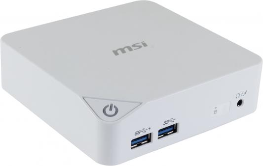 Неттоп MSI Cubi-227RU Intel Celeron-3215U 2Gb 500Gb Intel HD Graphics Windows 10 белый 9S6-B09612-227 G57-B1A0012-Y47