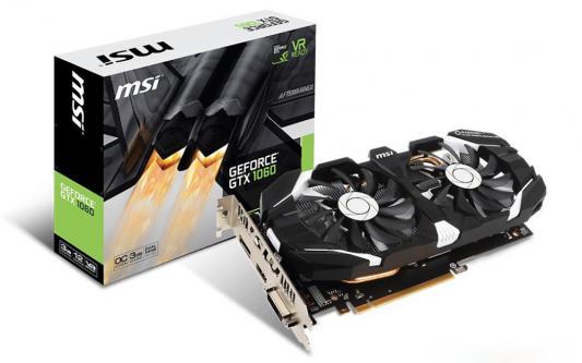 Видеокарта 3072Mb MSI GeForce GTX 1060 PCI-E 192bit GDDR5 DVI HDMI DP HDCP GTX 1060 3GT OC Retail
