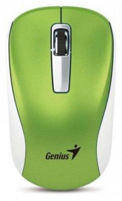 Мышь беспроводная Genius NX-7010 зелёный USB + радиоканал мышь genius nx 7010 magenta usb