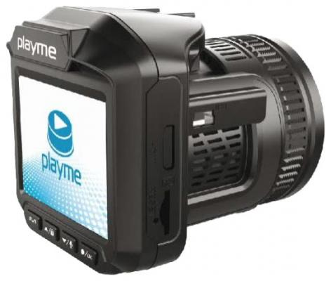 "Видеорегистратор PlayMe P400 2.7"" 1920x1080 140° microSD microSDHC HDMI + радар-детектор автомобильный"