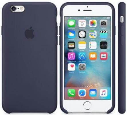 Чехол Apple MKY22ZM/A для iPhone 6S синий MKY02ZM/A чехол накладка interstep is frame для apple iphone 6 6s прозрачный с прокрашенным бампером золотого цвета