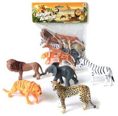 """все цены на Набор фигурок Shantou Gepai """"Jungle animal"""" 8 см 2A006"""