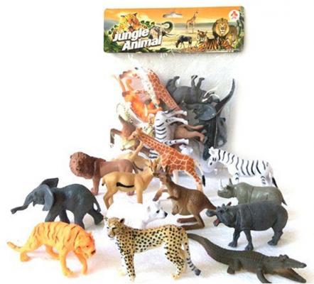 """Набор фигурок Shantou Gepai """"Jungle animal"""" 8 см 2A012"""