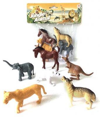 """Набор фигурок Shantou Gepai """"Jungle animal"""" 8 см 2A006-1"""