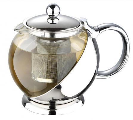 Чайник заварочный Wellberg WB-6872 прозрачный 1.2 л стекло