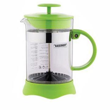 Френч-пресс Wellberg WB-9935 зелёный 0.8 л пластик/стекло