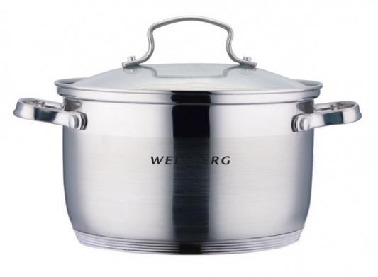 Кастрюля Wellberg WB-02174 16 см 1.9 л нержавеющая сталь термопот convito wb 16