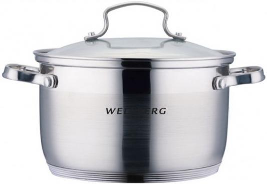 Кастрюля Wellberg WB-02175 2.9 л нержавеющая сталь защитная пленка red line sp для alcatel shine lite глянцевая