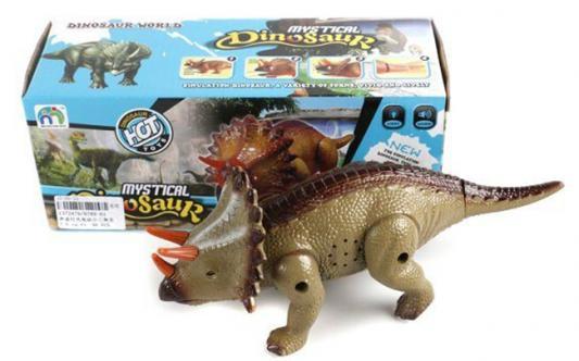 Интерактивная игрушка Shantou Gepai Динозавр от 3 лет коричневый 9789-61