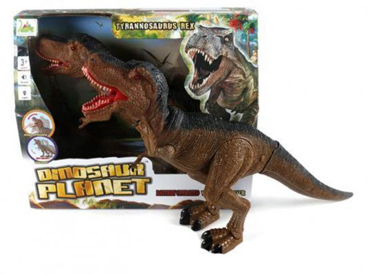 Интерактивная игрушка Shantou Gepai Динозавр от 3 лет коричневый RS6127