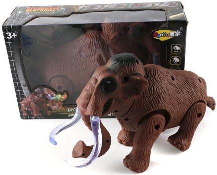 Интерактивная игрушка Shantou Gepai Слон от 3 лет коричневый NY009-A интерактивная игрушка shantou gepai динозавр от 3 лет бежевый rs6125