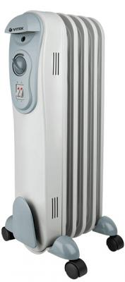 цена Масляный радиатор Vitek VT-2121(GY) 1500 Вт ручка для переноски серый онлайн в 2017 году