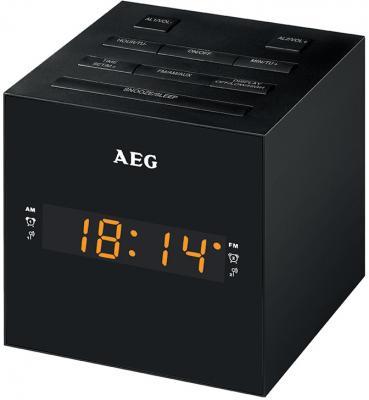 Часы с радиоприёмником AEG MRC 4150 чёрный цена и фото
