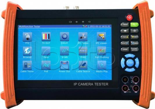 Универсальный монитор-тестер аналоговых и IP-видеокамер Tezter TIP-L-MT базовая модель + мультиметр + тестер оптич. линий + кабельный рефлектометр